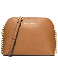 Michael Kors Cindy Large Saffiano Leather Crossbody - Lyst