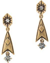 J.Crew - Brass Arrow Earrings - Lyst