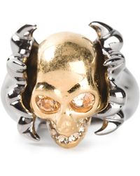 Alexander McQueen Claw Skull Cocktail Ring - Lyst