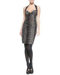 Jean Paul Gaultier Leopard-print Bustier Dress - Lyst