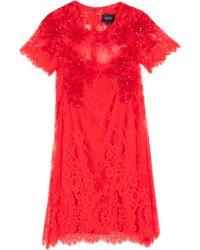 Notte By Marchesa Lace Trapeze Dress - Lyst