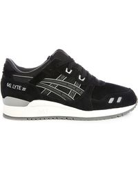 Asics | Gel Lyte Iii Black Full Suede Sneakers | Lyst