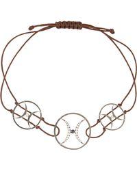 Zeus+Dione - Oxidized Silver, Diamond And Sapphire Bracelet - Lyst
