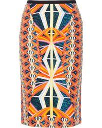 Peter Pilotto Printed Stretch-Crepe Skirt - Lyst