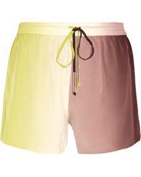 Diane von Furstenberg Benan Silk Shorts - Lyst