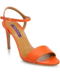 Ralph Lauren Collection Astera 75 Leather Sandals - Lyst