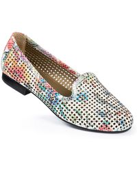 Me Too Yale Perforated Leather Loafers - Lyst