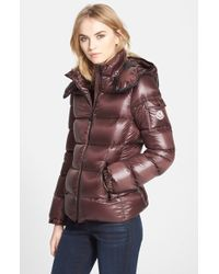 Moncler 'Berre' Down Puffer Coat With Detachable Hood purple - Lyst