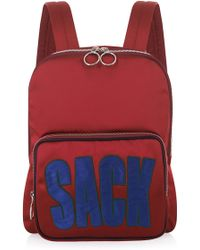 House of Holland - Maroon Backpack And Sack - Lyst