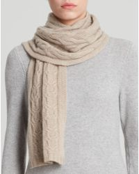C By Bloomingdale's Cashmere Cable Knit Scarf - Lyst