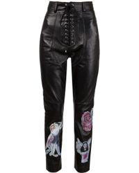Claire Barrow - Lace-up Appliqué Trousers - Lyst