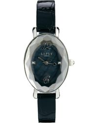 Lipsy - Black Strap Watch with Black Dial - Lyst