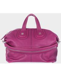"Givenchy Reddish-Purple Hammered Leather Medium ""Nightingale""Bag purple - Lyst"