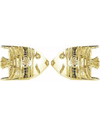 Theo Fennell 18ct Yellow-gold Angel Fish Stud Earrings - Metallic