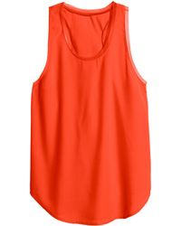 H&M Orange Woven Top - Lyst