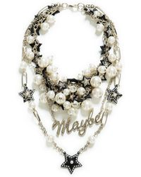 Zara Combination Pear and Chain Necklace - Lyst