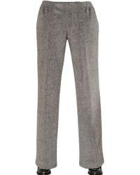 Viktor & Rolf Brushed Alpaca Wool & Cotton Pants - Lyst