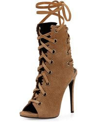 Giuseppe Zanotti Suede Lace-Up Boot - Lyst