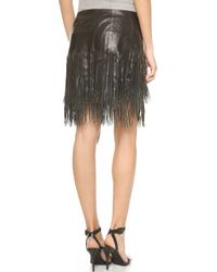 BLK DNM   Leather Skirt 40 With Fringe - Black   Lyst