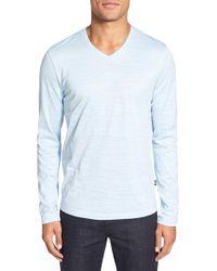 BOSS | 'tyson' V-neck Long Sleeve T-shirt | Lyst