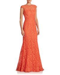 ML Monique Lhuillier Lace Open-Back Mermaid Gown - Lyst