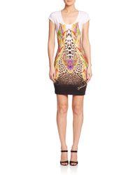 Just Cavalli Mixed-Print Bodycon Dress - Lyst