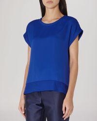 Reiss Top - Elsie Cap Sleeve blue - Lyst