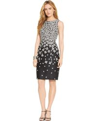Lauren by Ralph Lauren Petite Floral-Print Cotton Dress - Lyst