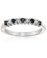 Tia Collections | .925 Alternate Diamond And Natural Gemstone Band | Lyst