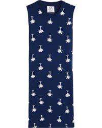Zoe Karssen Printed Stretch-Jersey Mini Dress - Lyst