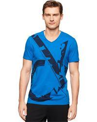 Calvin Klein Ck Blowout T-Shirt blue - Lyst