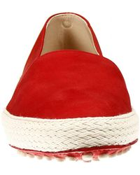 Tod's Flat Shoes Shoes Gommino Slipper Nabuk With Edge Rope - Lyst