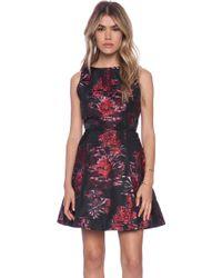 Alice + Olivia Jorah Box Pleat Dress - Lyst