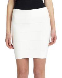 BCBGMAXAZRIA Simone Banded Skirt white - Lyst
