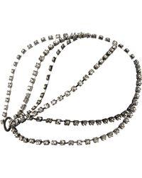 BCBGMAXAZRIA Tri-chain Rhinestone Headpiece - Black
