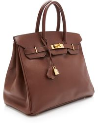 Heritage Auctions Special Collection Hermes 35cm Chocolate Epsom Birkin - Lyst