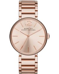 Marc By Marc Jacobs Peggy Rose Goldtone Stainless Steel Bracelet Watch pink - Lyst
