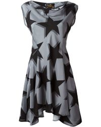 Vivienne Westwood Anglomania Flared Star Print Dress - Lyst