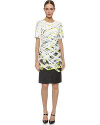 J. Mendel Short Sleeve Dress - Central Park - Lyst