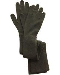 Acne Studios Deco Gloves Dark Green
