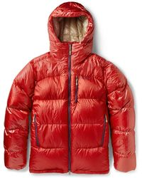 Patagonia Fitz Roy Down-Filled Quilted Hooded Coat - Red