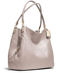 COACH - Madison Small Phoebe Shoulder Bag in Leather - Lyst