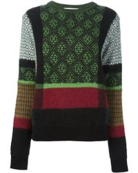 Toga Pulla - Jacquard Mohair and Wool-blend Sweater - Lyst