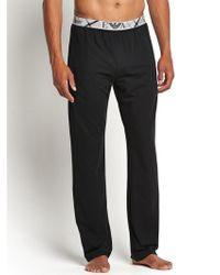 Emporio Armani Mens Check Waistband Loungepants - Lyst