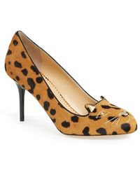 Charlotte Olympia 'Kitty' Calf Hair Pump - Lyst