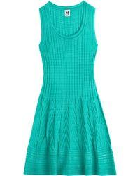 M Missoni Cotton-Blend Knit Dress - Lyst