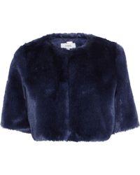 Coast Prague Faux Fur Cover Up - Blue