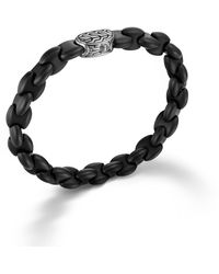 John Hardy Bracelet with Silver Carved Chain Clasp - Lyst
