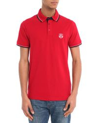 Selected Red Anchor Embroidery Short-Sleeved Polo Shirt - Lyst