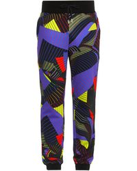 Christopher Kane Striped Paper-Print Track Pants - Lyst